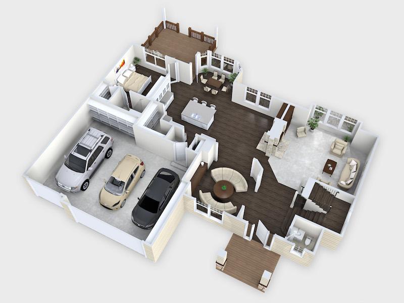 3D Floor Plan - shop.homestratosphere.com